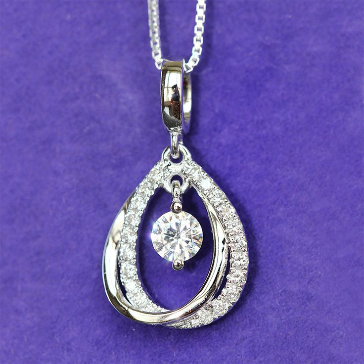 61 best moissanite pendant images on pinterest lab labrador and find more pendants information about solid 18k 750 white gold 05 carat ct f color lab grown moissanite diamond pendant necklace with real diamond accents mozeypictures Gallery