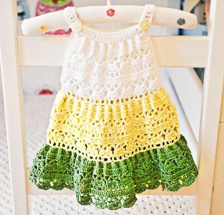 Crochet Tiered Dress Kit http://crocheting.myfavoritecraft.org/crochet-tiered-dress-kit/