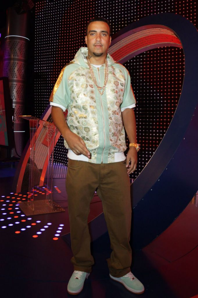 French Montana Wearing Nike Air Force 1 Low Arctic Green