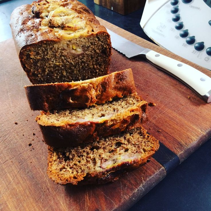thermomix banana bread -sub out yogurt for coconut yoghurt and is dairy free vegan!