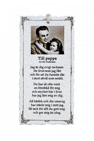 Till Pappa - Diktkort