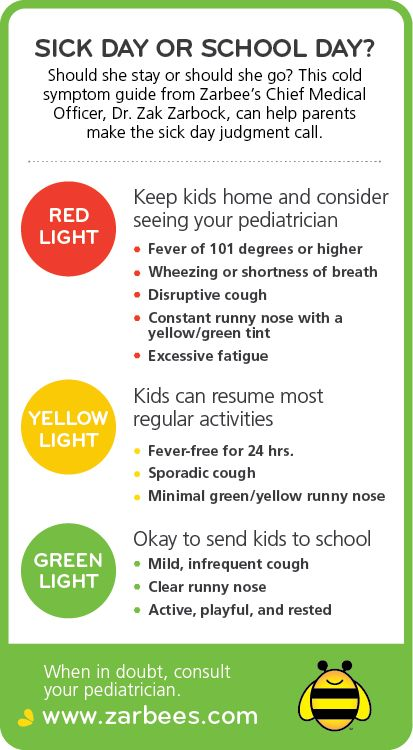 Zarbee's Naturals Tips for When to Send Kids to School