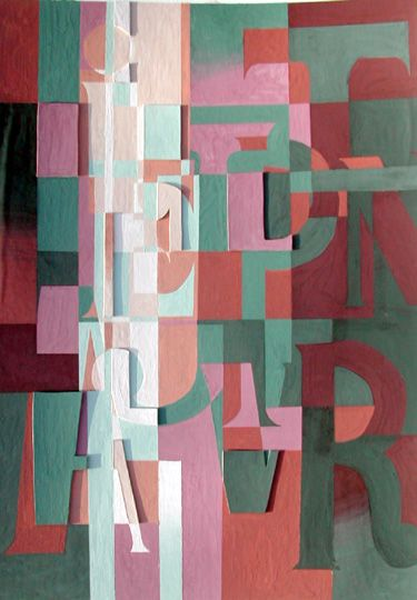 Classroom Painting Ideas ~ Abstract letter design from princetonol very