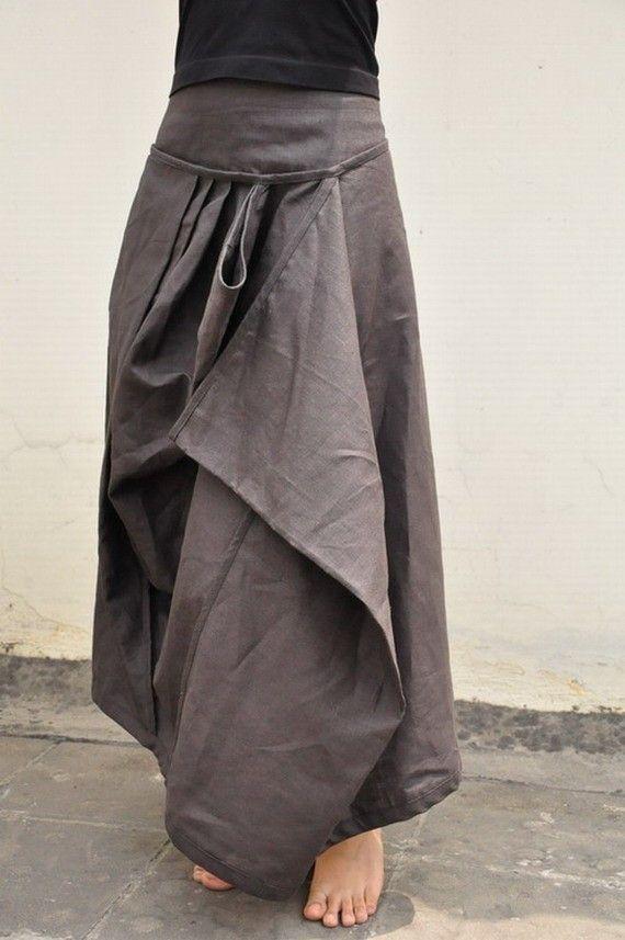 Long skirt.