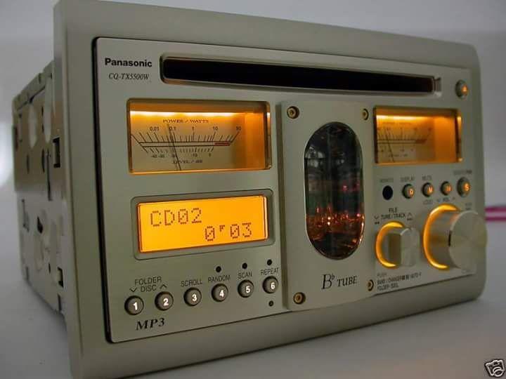 Panasonic Vacuum Tube Car Receiver/CD Player