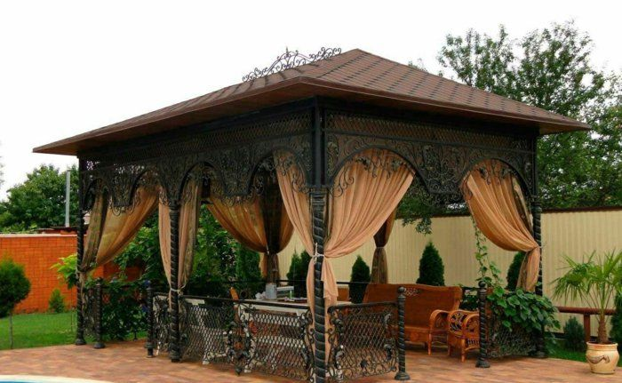ber ideen zu pergola metall auf pinterest. Black Bedroom Furniture Sets. Home Design Ideas