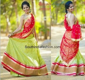Simple and Elegant Half Saree