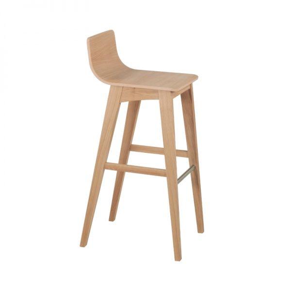 tabouret de bar ou snack moderne en bois enoa 4 pieds tables chaises - Pied Table De Bar