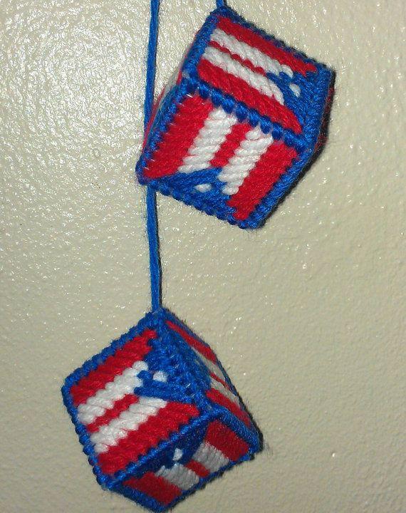 Puerto Rican Flag Car Dice by YolandasCanvas on Etsy, $3.50