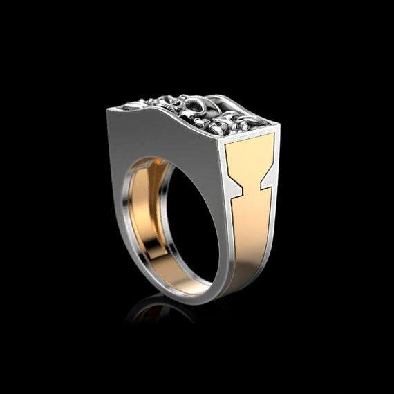 "Anillo ""secreto"". 14 К Anillo de oro o plata 925. Anillo de hombre. Anillo de mujer Regalo para ella Regalo para el. Regalo personalizado   – ハンドメイド"