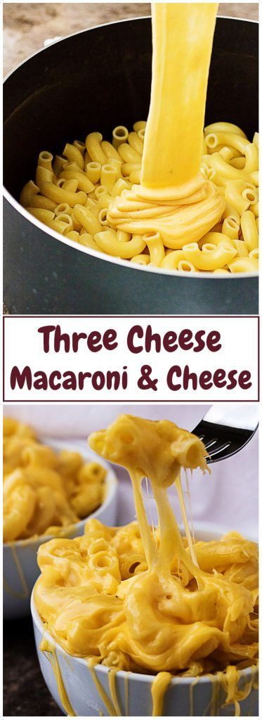 Try this three cheese macaroni and cheese for a gooey, cheesy, and comforting side dish. It's loaded with gouda, cheddar, and Monterey Jack cheeses! via @berlyskitchen