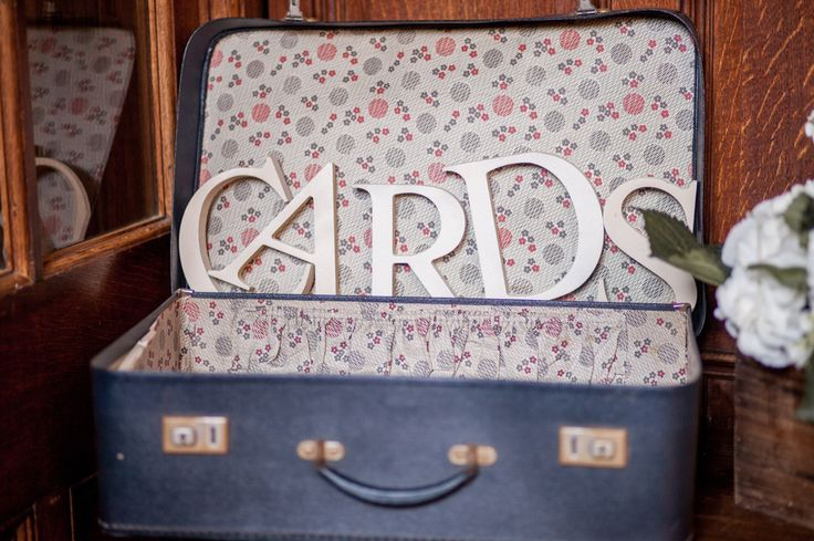 Vintage suitcase for our cards ❤️