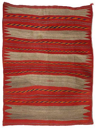 Navajo Transitional Banded Wearing Blanket