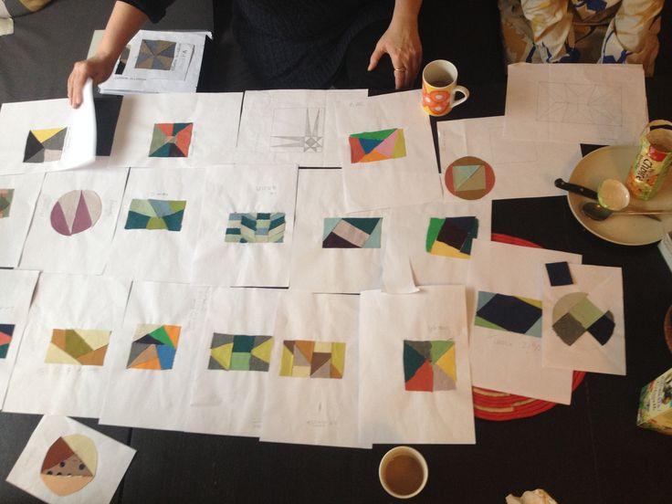 The result of our patchwork-workshop at Blickfang Copenhagen 2014
