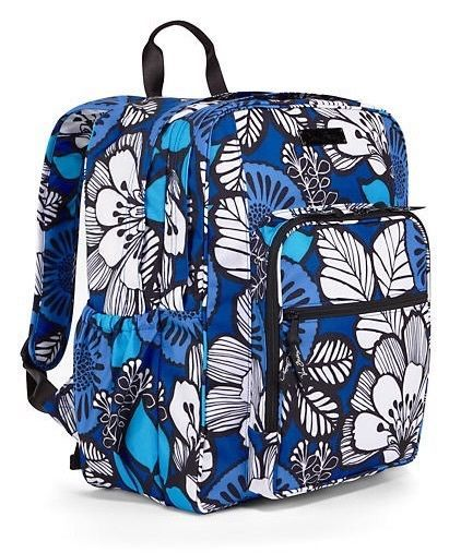 $74.99! VERA BRADLEY Lighten Up Large Backpack BLUE BAYOU Durable Nylon School Travel  #VeraBradley #Backpacks #MessengerCrossBody