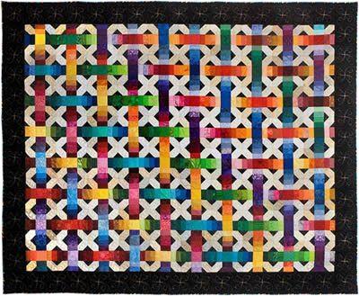 Modern Linoleum Quilt By Denise Konicek Boston Rainbow