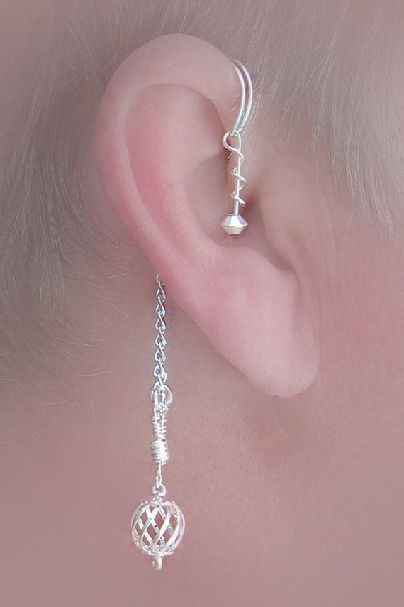 Dangling ear wrap pairover the ear wrap no by TheLazyLeopard, $18.00 # Pinterest++ for iPad #