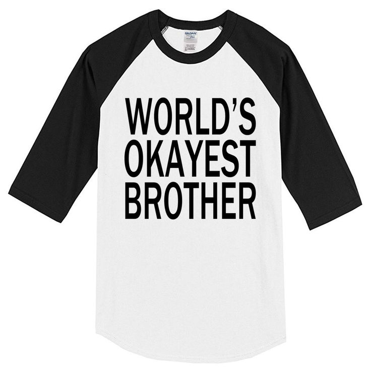 2017 summer T-shirts WORLD'S OKAYEST BROTHER letter printed Crossfit 100% cotton crossfit men's T-shirt top raglan t shirt kpop #Affiliate