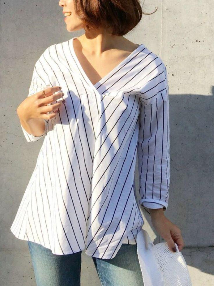 GALLARDAGALANTE名古屋店 | riiiiicatさんのシャツ/ブラウス「GALLARDAGALANTE バイヤスストライプシャツ」を使ったコーディネート