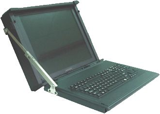 Have a look at this customized Ruggedized LCD Monitor with Foldable Keyboard. It's modified according to customers requirements. #technology #portablecomputers #servermonitors.