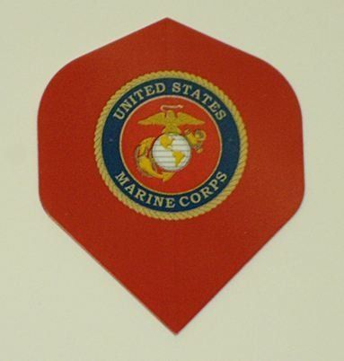 2 Sets - United States Marine Corps Standard Dart Flights by US Darts. $5.45