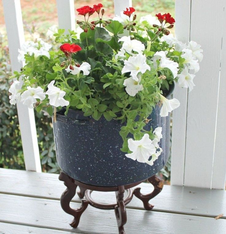 See my trick for using less dirt in a large flower pot! I