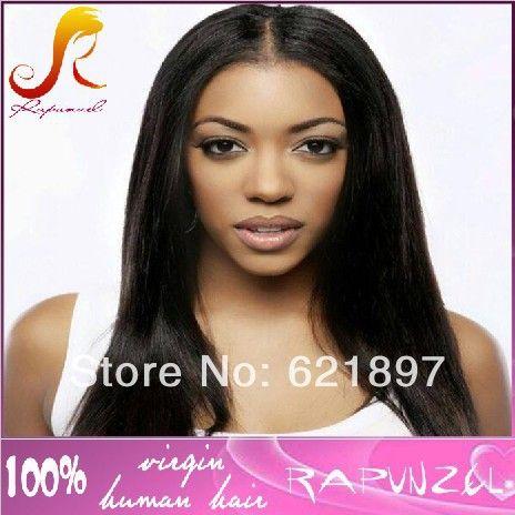 Прямой пробор бразильские волосы перед lace wig