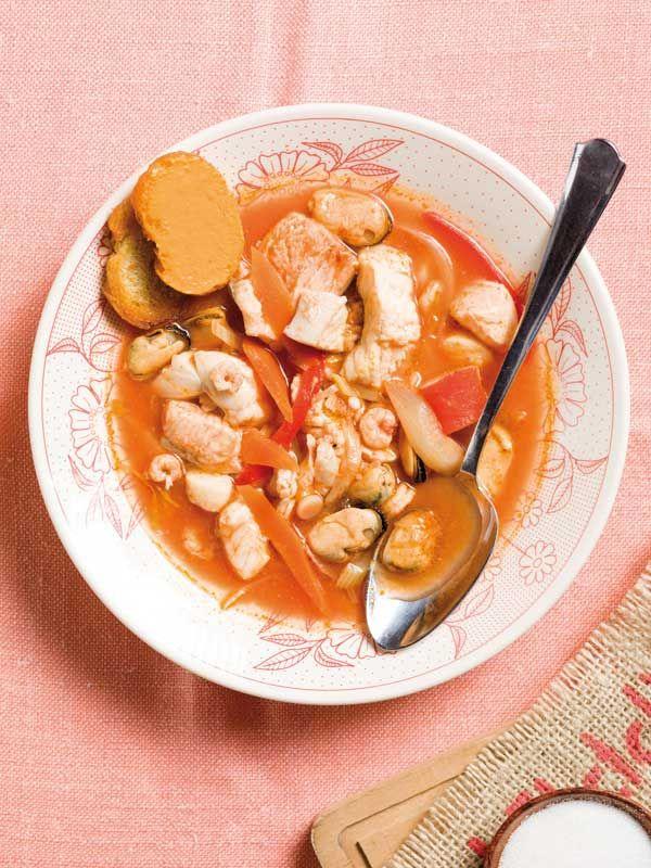 Soupe de poissons au pastis