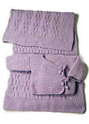 Easy as Pie Blanket + Kimono FREE PATTERN ♥>2750 FREE patterns to knit♥ GO TO: pinterest.com/.... for more than 2750 FREE patterns to KNIT