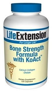 Life Extension Bone Strength Formula with KoACT 120 Caps - Bone Health - Shop by Health Condition - Vitamins, Minerals, Herbs & More