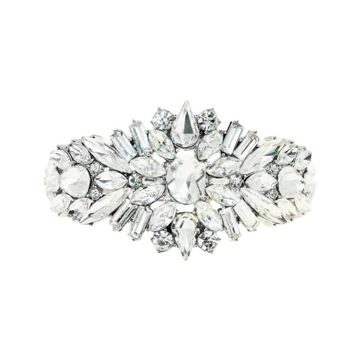 Armband bruid - Bruidsarmband - Zilveren armband - Swarovski armband - Vintage armband - Vintage bracelet