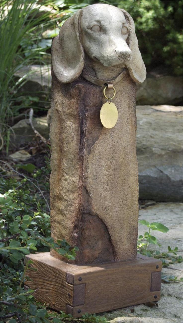 Small Memorial Garden Pet Urn for Dachshund - Urn for ...