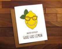 Funny Birthday Card - Tina Fey Birthday - Liz Lemon Card - 30 Rock Birthday Card