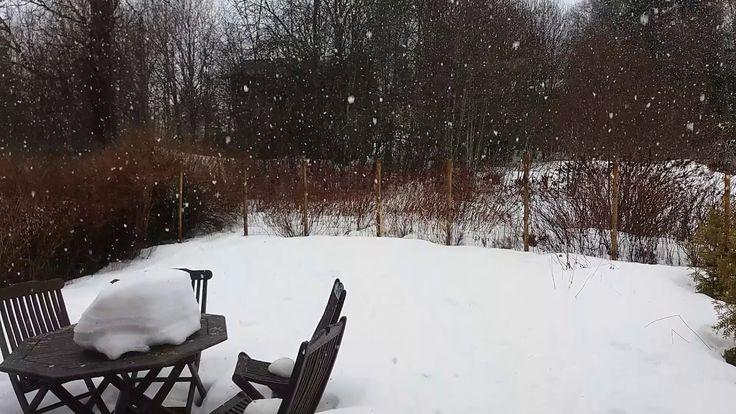 2018 huhtikuu 06 - lumisade