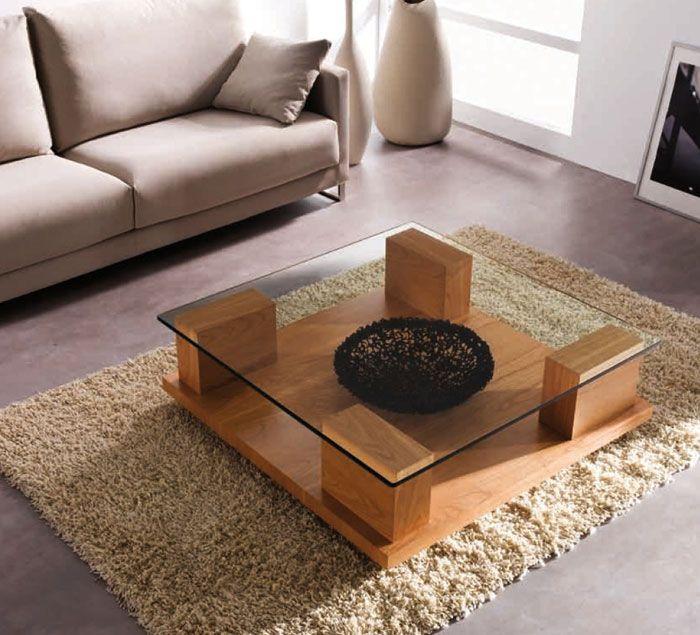 17 mejores ideas sobre mesas de centro cuadradas en for Sala de estar de madera