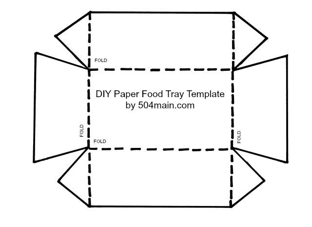 DIY Paper Food Tray   Template