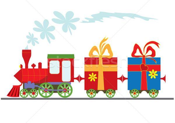Stock fotó: Rajz · gőz · ajándék · dobozok · autó · zöld