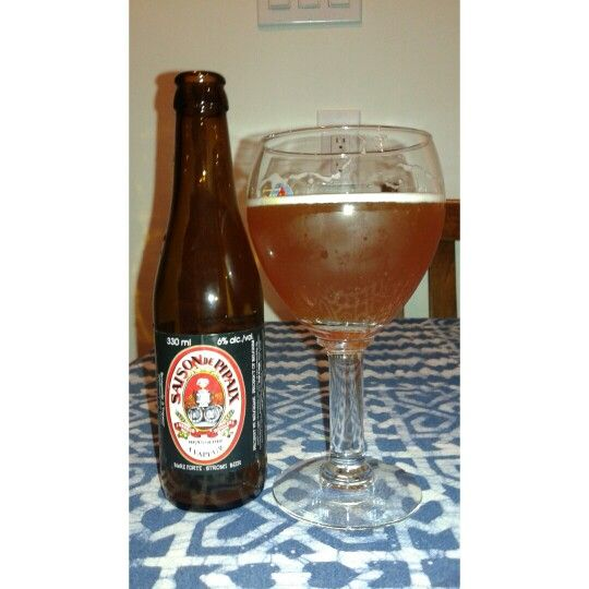 "#Beer of the Day - Saison de Pipaix ""very spicy (black pepper, ginger, sweet orange peel, curaçao, star anise...)"""