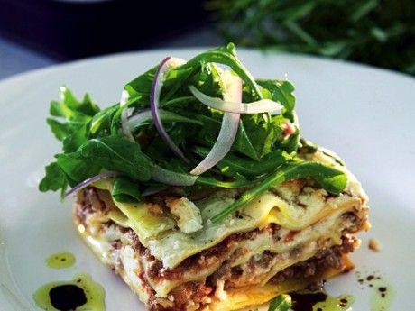 Lasagne med fetaost och rosmarin