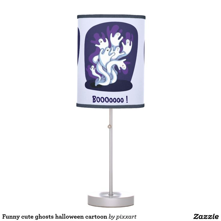 Funny Cute Ghosts Halloween Cartoon Table Lamp
