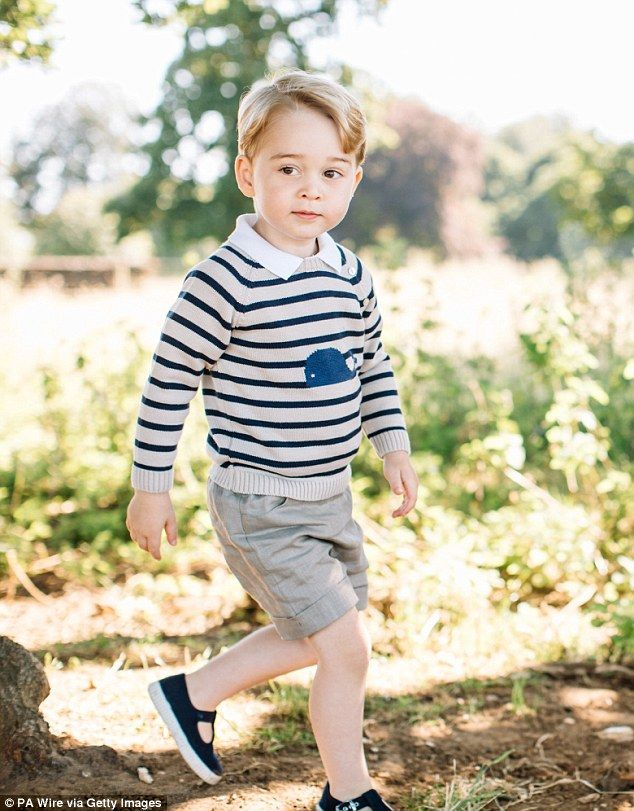Prince George wearing a £42 whale sweater by Pepa & Co in his official third…