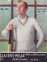 mens cricket jumper 1940s