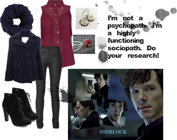 """Sherlock Fashion: Sherlock Holmes"" Inspired by the show Sherlock Fashion"