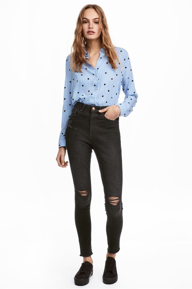 4a8933a7 Slim High Trashed Jeans | Things to Wear | Jeans, Trashed jeans ...