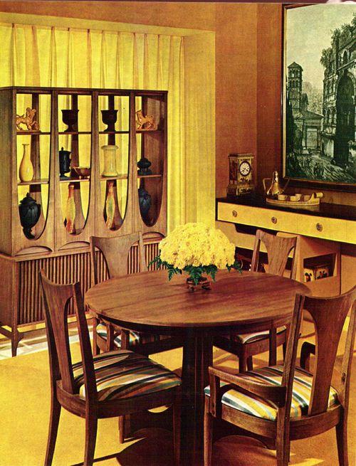 Broyhill Brasilia Hutch Dining Set, My Chairs!