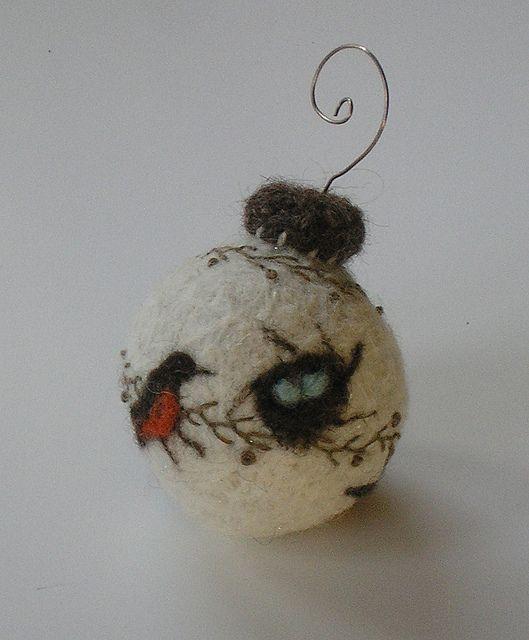 Wool Ornament by woollysomething, via Flickr