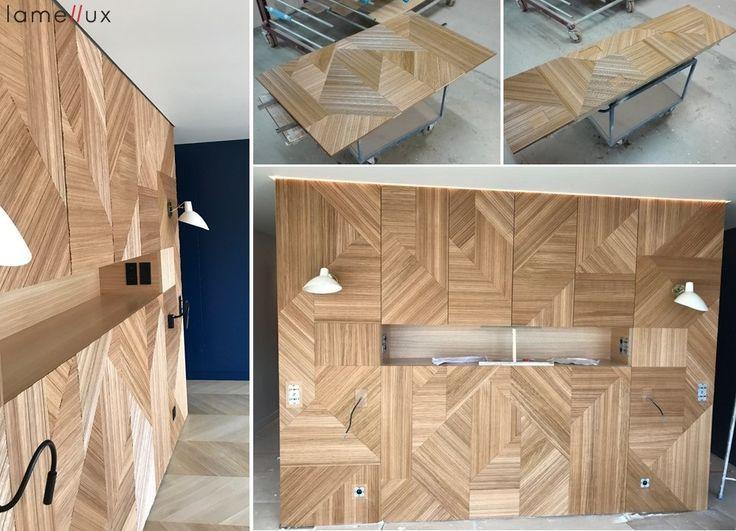 """LAMELLUX Tête de Lit marqueterie """"Empreinte"""" Draped chêne naturel - Paris   #lamellux #empreinte #draped #chene #oak #paris #luxe #madeinfrance #ebenisterie #marqueterie #marquetry #architecture #architecturedinterieur #agencement #craftmanship #luxury #design #interior #interiordesign #woodwork #bespoke"""