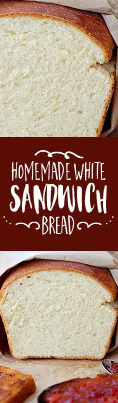 Soft and fluffy, this white bread recipe is perfect for PB&J or deli sandwiches, and even for making French toast.