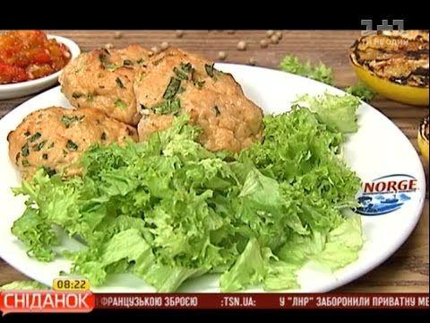 Рибні котлети із сьомги - Правильний Сніданок - YouTube