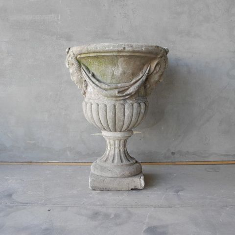 19th c. Stone Urn from the Gardens of a Chateau near the Touraine Region Town of Lencloitre